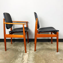 Load image into Gallery viewer, Rare Set of 6 Dining Chairs by Arne Vodder With New Upholstery (FREE SHIPPING)