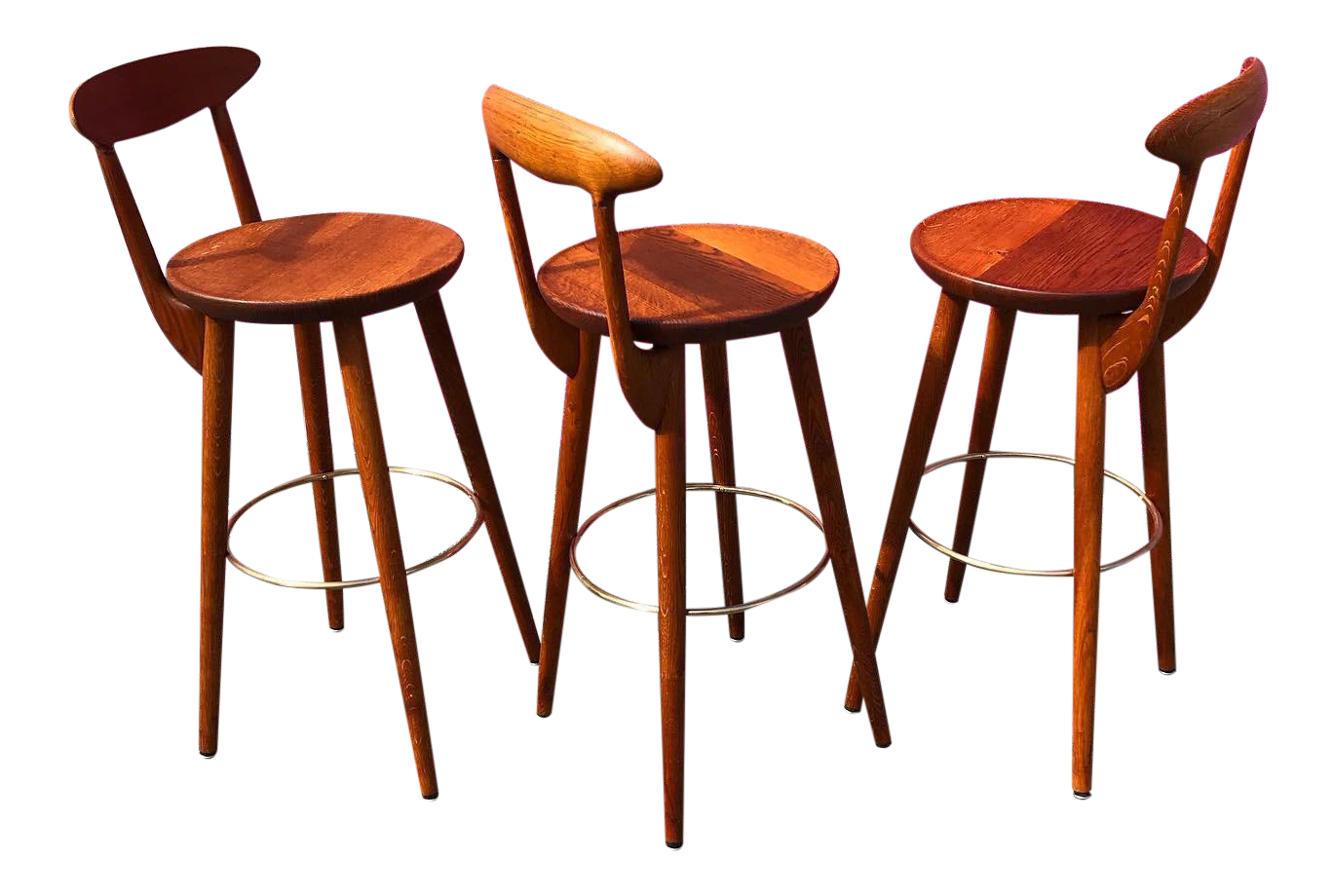 Picture of: Set Of 3 Danish Teak Barstools By Kurt Ostervig Free Shipping Houseofhumboldt