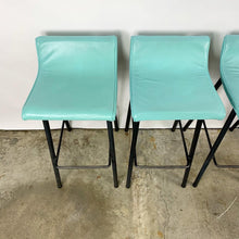 Load image into Gallery viewer, Set of 4 Barstools by Vista of California With Mint Green Upholstery (FREE SHIPPING)
