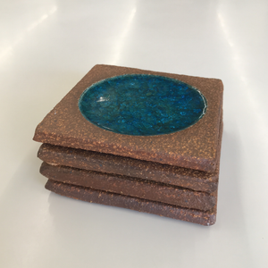 Set of 4 Ceramic Coasters by Brent Bennett (FREE SHIPPING)
