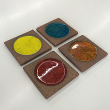 Load image into Gallery viewer, Set of 4 Ceramic Coasters by Brent Bennett (FREE SHIPPING)