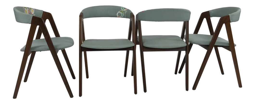 Set of 4 Danish Modern Teak Dining Chairs by Kai Kristiansen (FREE SHIPPING)