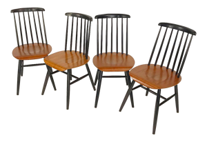 Set of 4 Dining Chairs by Ilmari Tapiovaara (FREE SHIPPING)