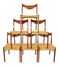 Load image into Gallery viewer, Set of 6 Danish Dining Chairs by Arne Wahl Iversen for Glyngøre Stolfabrik (FREE SHIPPING)