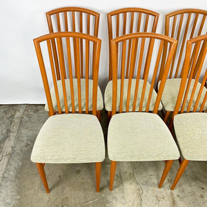 Set of 8 Italian High Back Dining Chairs (FREE SHIPPING)