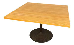 Solid Oak Top Table Designed by Ilmari Tapiovaara for Icf Furniture (FREE SHIPPING)