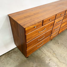 Load image into Gallery viewer, Solid Walnut 14 Drawer Mid Century Modern Dresser