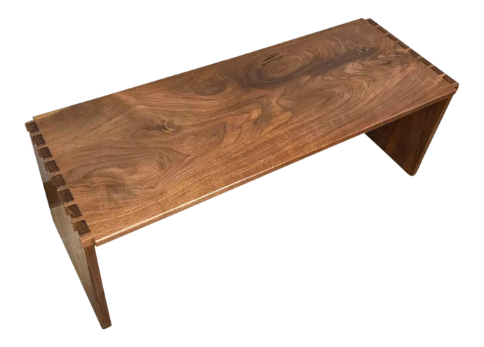 Solid Walnut Modern Bench (FREE SHIPPING)