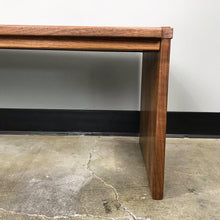 Load image into Gallery viewer, Solid Walnut Modern Bench (FREE SHIPPING)