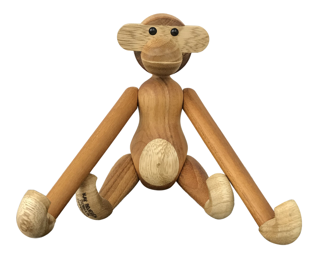 Teak Monkey by Kay Bojesen (FREE SHIPPING)