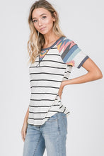 Load image into Gallery viewer, Aztec Short Sleeve Top