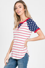 Load image into Gallery viewer, Stars and Stripes Raglan Top