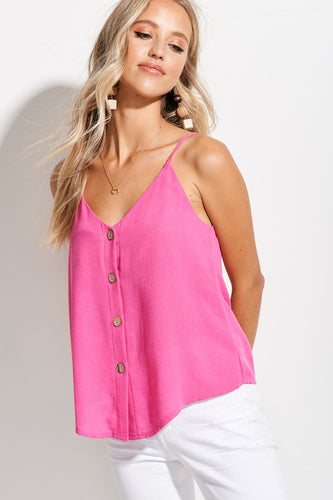 Kamie Camisole Top-Hot Pink