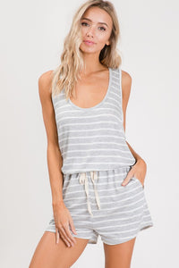 Heather Striped Romper