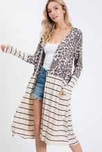 Load image into Gallery viewer, Mae Leopard/Stripe Duster