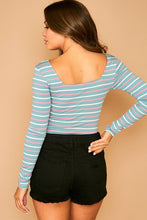 Load image into Gallery viewer, Amber Striped Bodysuit-2 Colors
