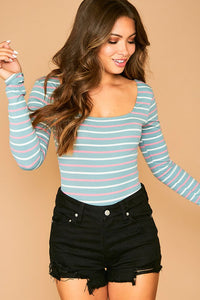 Amber Striped Bodysuit-2 Colors