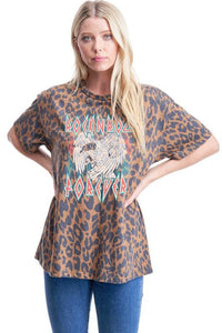 Leopard Rock N Roll Tee