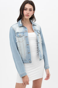 Bailey Distressed Denim Jacket