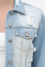 Load image into Gallery viewer, Bailey Distressed Denim Jacket