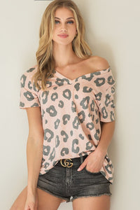 Madelyn Leopard Top-Blush
