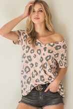 Load image into Gallery viewer, Madelyn Leopard Top-Blush