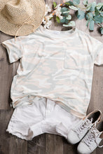 Load image into Gallery viewer, Camo Print Lounge wear Top