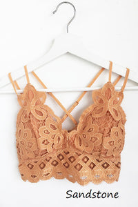 Kiss N Tell Bralette- Sandstone