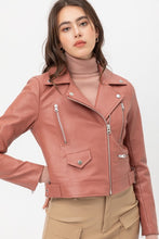 Load image into Gallery viewer, Downtown Girl Faux Leather Jacket-Mauve