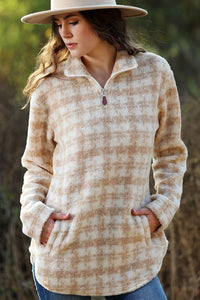Coming Home Fleece Pullover- Taupe
