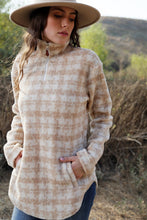 Load image into Gallery viewer, Coming Home Fleece Pullover- Taupe