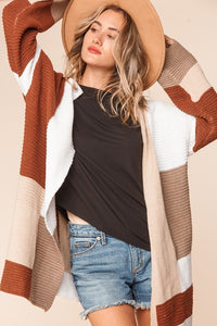 Nothing Lasts Forever Cardigan- Rust