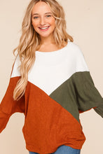 Load image into Gallery viewer, Keep In Touch Color Block Sweater
