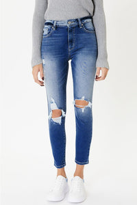 Joey High Rise Distressed Denim