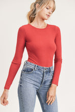 Load image into Gallery viewer, Ember Ribbed Bodysuit- Red