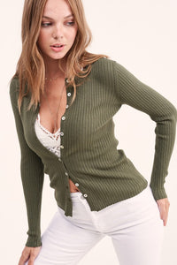 Gotta Have It Cardigan - Olive