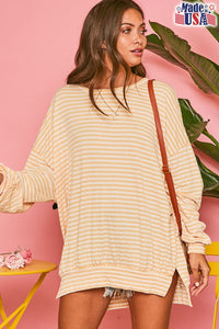 Misty Sweatshirt- Ivory/Yellow