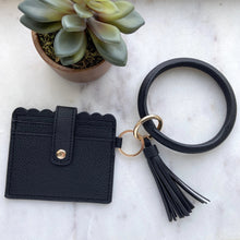 Load image into Gallery viewer, CARDHOLDER WITH KEYRING BANGLE & TASSEL