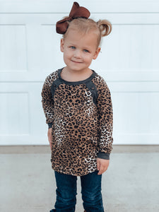 KIDS Emmy leopard top