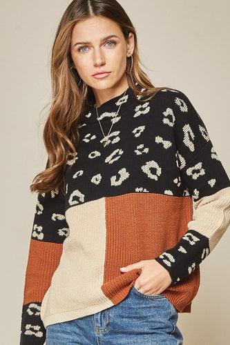 Emma Color Block Sweater