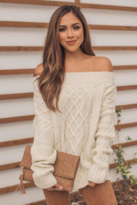 Forget Me Not Off Shoulder Top-Ivory