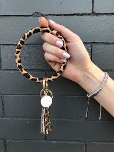 Halo Tassel Bracelet Key Ring