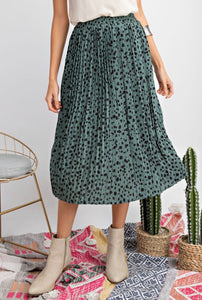 Dotty Midi Skirt-2 Colors