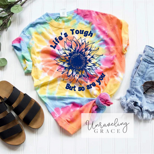 Tougher Sunflower Tie Dye Graphic