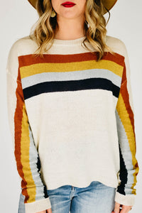 Over the rainbow Sweater-Cream