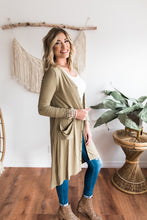 Load image into Gallery viewer, Kaydan Ribbed Button Cardigan - Olive