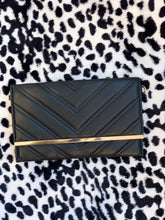 Load image into Gallery viewer, Miranda Clutch-Black/Gold