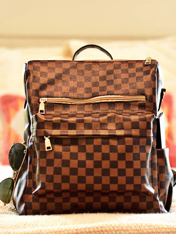 Lacey London Backpack -Brown