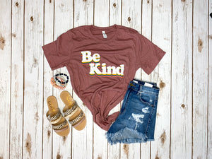 Be Kind graphic-Heather mauve