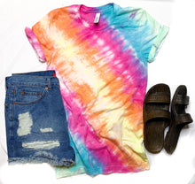 Load image into Gallery viewer, Tie Dye Rainbow Graphic- Solid